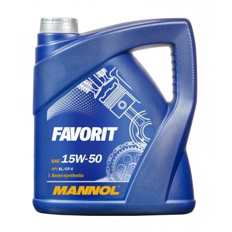 TEPALAS MANNOL 15W-50 FAVORIT 5L