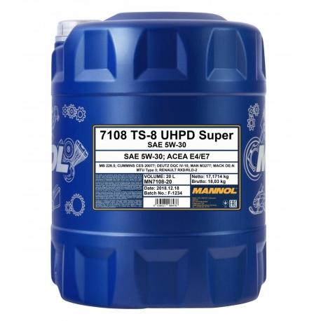 TEPALAS MANNOL TS-8 UHPD Super 5W-30 20L