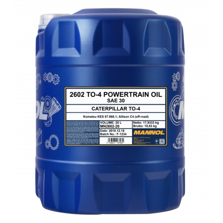 TEPALAS MANNOL TO-4 Powertrain Oil SAE 30 20L