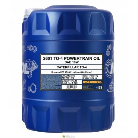 MANNOL TO-4 POWERTRAIN OIL SAE10 20L